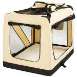 TecTake Cage sac box caisse de transport pour chien chat mobile XL pliable beige 80x55x58cm de la marque TecTake image 2 produit