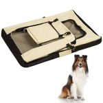 TecTake Cage sac box caisse de transport pour chien chat mobile XL pliable beige 80x55x58cm de la marque TecTake image 5 produit