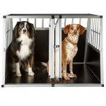 TecTake XXL Cage box caisse de transport aluminium en forme de trapèze pour chien (lxPxH): 104 x 91 x 69,4 cm de la marque TecTake image 1 produit