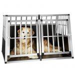 TecTake XXL Cage box caisse de transport aluminium en forme de trapèze pour chien (lxPxH): 104 x 91 x 69,4 cm de la marque TecTake image 2 produit