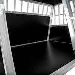 TecTake XXL Cage box caisse de transport aluminium en forme de trapèze pour chien (lxPxH): 104 x 91 x 69,4 cm de la marque TecTake image 3 produit