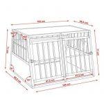 TecTake XXL Cage box caisse de transport aluminium en forme de trapèze pour chien (lxPxH): 104 x 91 x 69,4 cm de la marque TecTake image 6 produit