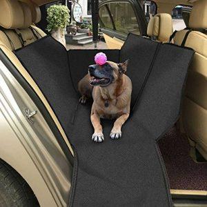 topist voiture couverture pour chien, imperméable Oxford Chiffon Tapis de protection coffre de voiture pour chien avec protection latérale, couverture voiture pour chien peut être comme Hamac suspendue, protège vos des rayures, la saleté, les poils d' image 0 produit