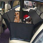 topist voiture couverture pour chien, imperméable Oxford Chiffon Tapis de protection coffre de voiture pour chien avec protection latérale, couverture voiture pour chien peut être comme Hamac suspendue, protège vos des rayures, la saleté, les poils d' image 1 produit