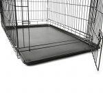 TRESKO® Cage de transport pliable pour Chiens, Chats, Chiots, Chatons et Animaux domestique, Caisse de transport en métal, Cage chien, Caisse de transport pour la voiture, Bac en plastique amovible, Cages à lapin, Cages pour rongeurs, Cabane à lapins, Lap image 3 produit