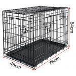 WOLTU HT2030m1 cage de transport pliable pour chiens ,Caisse de transport pour Chien,cage pour animaux,chats cage,métal,taille M,76x48x54cm de la marque Woltu image 3 produit