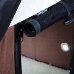 WOLTU HT2059br7-a Sac de transport de voiture pour animal avec une couverture,Caisse de transport pliable pour chien,Boîte de Voyage de chien avec une couverture de chien,Taille 4XL 122x79x79cm,Brun de la marque Woltu image 5 produit