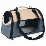 WOLTU HT2071gr Sac de transport en Oxford Cage pour chien,Caisse de transport pliable pour chien,environ 44*26*27,5 cm,Gris de la marque Woltu image 1 produit