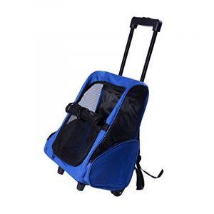 2 en 1 Trolley chariot sac à dos sac de transport à roulettes pour chien chat neuf 11 de la marque Pawhut image 0 produit