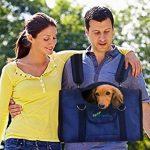 6-en-1 SOLIDE Sac à dos pour chien & chat, Pack avant, Sac d'épaule, Transporteur de petits animaux, 2 porte-chats, bandoulière, grands et moyens chats et chiens, transporteur de voyage pour animaux de compagnie, lapins, chiens, transporteur aux côtés image 4 produit