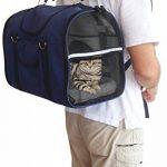 6-en-1 SOLIDE Sac à dos pour chien & chat, Pack avant, Sac d'épaule, Transporteur de petits animaux, 2 porte-chats, bandoulière, grands et moyens chats et chiens, transporteur de voyage pour animaux de compagnie, lapins, chiens, transporteur aux côtés image 3 produit