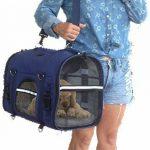 6-en-1 SOLIDE Sac à dos pour chien & chat, Pack avant, Sac d'épaule, Transporteur de petits animaux, 2 porte-chats, bandoulière, grands et moyens chats et chiens, transporteur de voyage pour animaux de compagnie, lapins, chiens, transporteur aux côtés image 2 produit