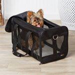AmazonBasics Sac de transport à parois souples pour animal de compagnie Noir TailleL de la marque AmazonBasics image 2 produit