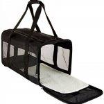 AmazonBasics Sac de transport à parois souples pour animal de compagnie Noir TailleL de la marque AmazonBasics image 3 produit