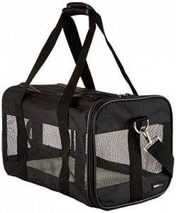 AmazonBasics Sac de transport à parois souples pour animal de compagnie Noir TailleM de la marque AmazonBasics image 0 produit