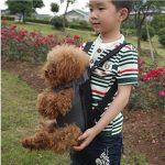Amzdeal Sac de transport Ventral Poitrine pour Animal Chien Chat Chiot Pet Carrier en Nylon Sac à dos de transport Taille S---Noir de la marque Amzdeal image 4 produit