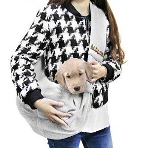 Aodoor Sac de Transport pour Chat / Chien, Expédition pour Chiens sac bandoulière pour chien et chat Chien chiot chat épaule pour animaux de compagnie Sling sac transporteur titulaire Gris de la marque Aodoor image 0 produit
