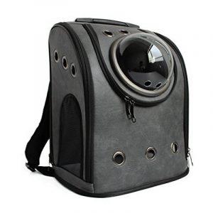 Astronaute Sac, iTECHOR PU cuir chien chat animal sac à dos transporteur de compagnie épaule voyage sac - Gris foncé de la marque iTECHOR image 0 produit