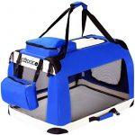CADOCA Boite cage de transport chien pliable boite voyage chiens chats animaux - Taille S de la marque Deuba image 1 produit