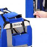 CADOCA Boite cage de transport chien pliable boite voyage chiens chats animaux - Taille S de la marque Deuba image 3 produit