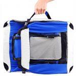CADOCA Boite cage de transport chien pliable boite voyage chiens chats animaux - Taille S de la marque Deuba image 5 produit