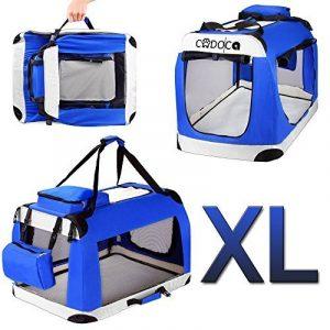 CADOCA Sac de transport cage chien pliable boite voyage chiens chats animaux - Taille XL de la marque Deuba image 0 produit