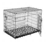 Cage caisse de transport chien pliable fil d'acier 2 portes avec coussin poignée 91L x 61l x 67Hcm noir neuf 33 de la marque Pawhut image 2 produit