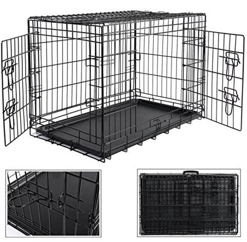 6ce53d971c38a1 WOLTU HT2030m3 cage de transport pliable pour chiens ,Caisse de transport  pour Chien,cage pour animaux,chats cage,métal,taille XL,107x71x76cm de la  marque ...