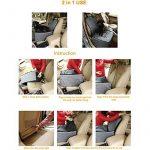 Housse de siège avant de voiture de style 2 en 1 pour Chien,Couverture de Protection de Siège Voiture Antidérapant Imperméable pour Transporter Animaux (noir) de la marque dulcii image 3 produit