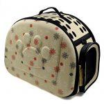 Itian Sac de transport pour animal de compagnie chien chat cage de Voyage caisse pliable Sac a main en forme de coeur (Jaunâtre) de la marque Itian image 1 produit