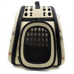 Itian Sac de transport pour animal de compagnie chien chat cage de Voyage caisse pliable Sac a main en forme de coeur (Jaunâtre) de la marque Itian image 3 produit