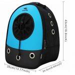 Okbuynow Sac à dos tout Confort pour chiens et chats jusqu'à 15kilos, pour aller faire une promenade, randonnée pédestre et cyclisme (bleu) de la marque OKBUYNOW image 3 produit