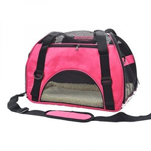 Pet Cuisine Sac à main de transport avec intérieur doux et respirable pour chien et chat Rose M de la marque Pet Cuisine image 0 produit