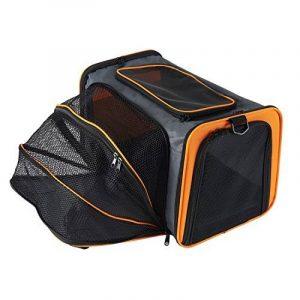 Petcomer Extensible de Voyage Pliable Confortable Soft-Sided Sacs de Transport pour Chiens et Autres Animaux, Grand Transporteur De Chats (L, Orange) de la marque PETCOMER image 0 produit