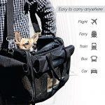 Petsn'all - Sac Transport Chat, Chien, Animal en Noir, Conforme aux normes des Compagnies aériennes de la marque PetsN'all image 1 produit