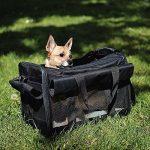 Petsn'all - Sac Transport Chat, Chien, Animal en Noir, Conforme aux normes des Compagnies aériennes de la marque PetsN'all image 4 produit
