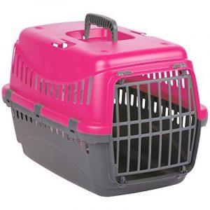 Promobo - Panier De Transport Cage De Voyage Pour Chat Et Chien Rose de la marque Promobo image 0 produit