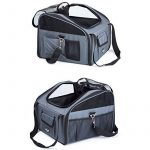 Sacs de Transport gris foncé sur la banquette arrière dans la voiture pliable pour animal domestique chats chiens de la marque BabycarePro image 3 produit