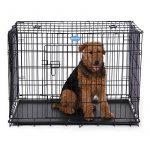 Songmics 2 Portes Cage pour chien pliable et transportable avec Poignées et Plateau noir 106 x 70 x 77,5 cm PPD42H de la marque Songmics image 2 produit