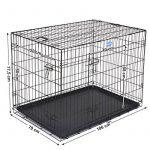Songmics 2 Portes Cage pour chien pliable et transportable avec Poignées et Plateau noir 106 x 70 x 77,5 cm PPD42H de la marque Songmics image 3 produit