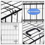 Songmics 2 Portes Cage pour chien pliable et transportable avec Poignées et Plateau noir 106 x 70 x 77,5 cm PPD42H de la marque Songmics image 4 produit
