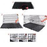 Songmics 2 Portes Cage pour chien pliable et transportable avec Poignées et Plateau noir 106 x 70 x 77,5 cm PPD42H de la marque Songmics image 6 produit