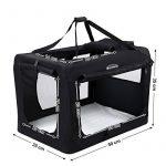 Songmics Caisse De Transport Pliable Pour Chien noir - S 50 x 35 x 35 cm de la marque Songmics image 2 produit