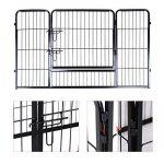 Songmics Parc pour chien enclos en fer pour animaux de compagnie amovible et transportable noir PPK74H de la marque Songmics image 5 produit