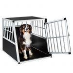TecTake Cage Box Caisse de Transport pour Chien Mobile Aluminium - diverses tailles au choix - (Simple/grand/inclinée | No. 401623) de la marque TecTake image 2 produit