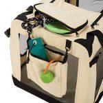 TecTake Cage sac box caisse de transport pour chien chat mobile L pliable beige 69x50x52cm de la marque TecTake image 4 produit