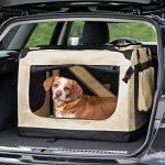 TecTake Cage sac box caisse de transport pour chien chat mobile XL pliable beige 80x55x58cm de la marque TecTake image 1 produit
