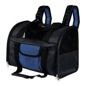 Trixie Sac à Dos Transport pour Chats ou Petits Chiens 42 × 29 × 21 cm, Noir/Bleu de la marque Trixie image 0 produit