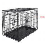WOLTU HT2030m1 cage de transport pliable pour chiens ,Caisse de transport pour Chien,cage pour animaux,chats cage,métal,taille M,76x48x54cm de la marque Woltu image 1 produit