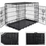 WOLTU HT2030m1 cage de transport pliable pour chiens ,Caisse de transport pour Chien,cage pour animaux,chats cage,métal,taille M,76x48x54cm de la marque Woltu image 2 produit